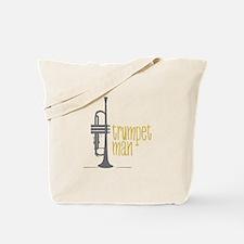 Trumpet Man Tote Bag