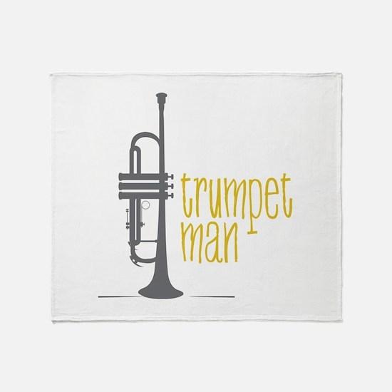 Trumpet Man Throw Blanket