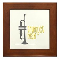 Trumpet Man Framed Tile