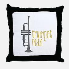 Trumpet Man Throw Pillow