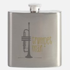 Trumpet Man Flask