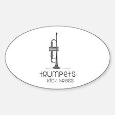 Trumpets Kick Brass Decal