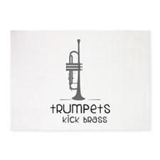 Trumpets Kick Brass 5'x7'Area Rug