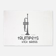 Trumpets Kick Brass 5'x7'Area Rug