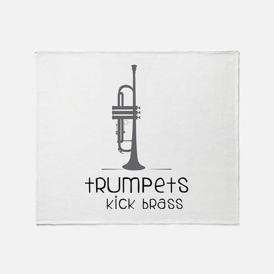 Trumpets Kick Brass Throw Blanket