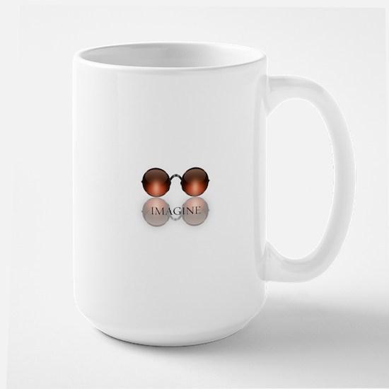 round glasses blk Mugs