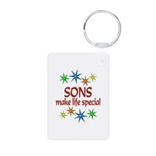 Special Son Aluminum Photo Keychain