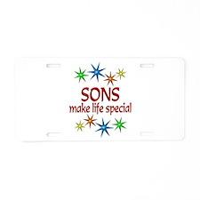 Special Son Aluminum License Plate