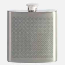 Mint and White Tile Pattern Flask