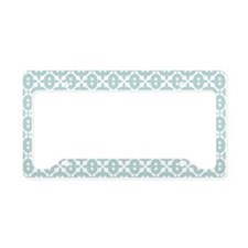 Mint and White Tile Pattern License Plate Holder