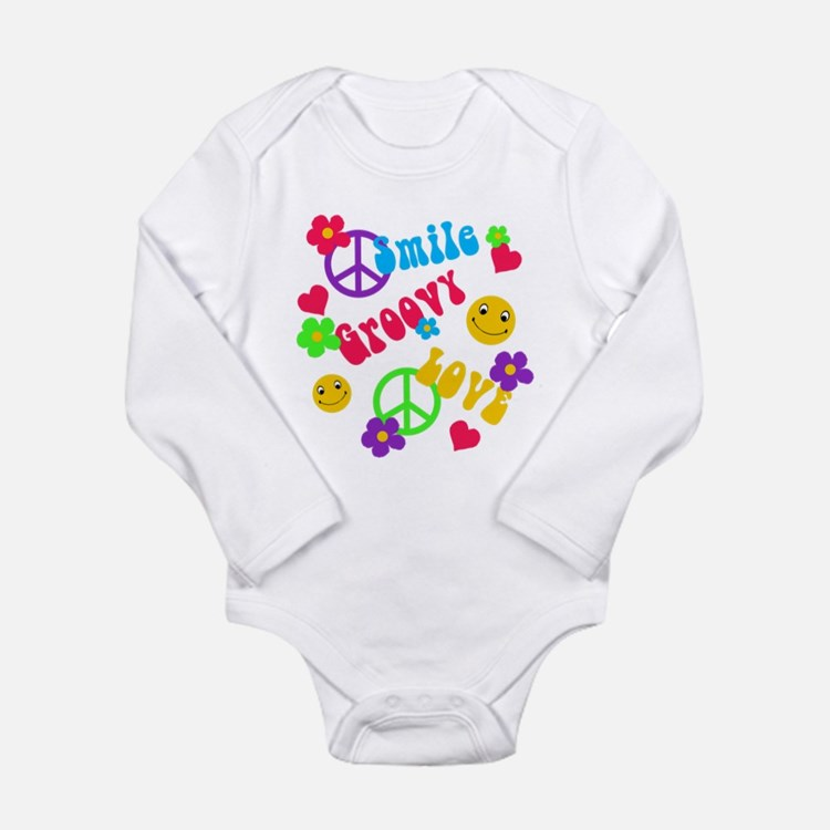 Smile Groovy Love Peace Body Suit