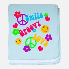 Funny Hippies baby blanket