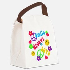 Funny Hippies Canvas Lunch Bag