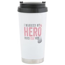 Unique Air force wife Travel Mug