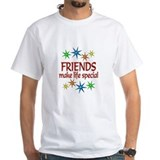 Friendship Mens White T-shirts
