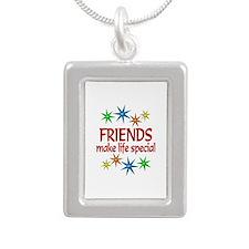Special Friend Silver Portrait Necklace