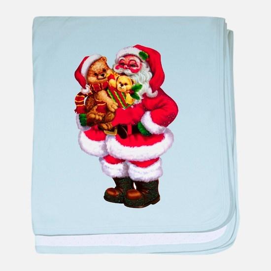 Santa Claus 3 baby blanket