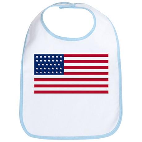 34 Star US Flag Bib