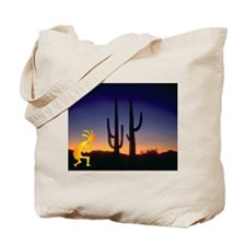Cactus and Kokopelli Tote Bag