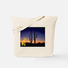 Cactus and Kokopelli Tote Bag
