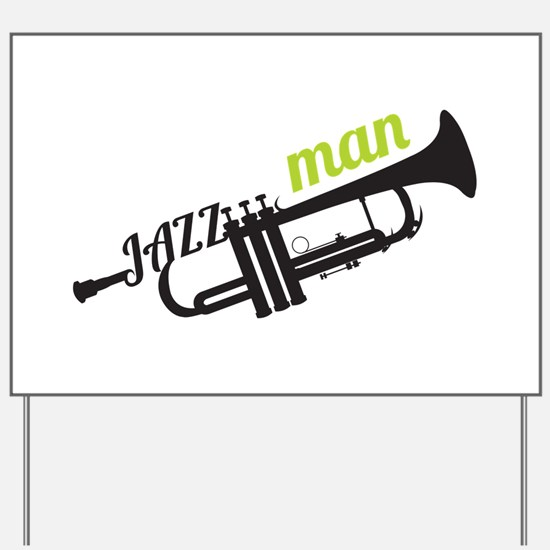 Jazz Man Yard Sign
