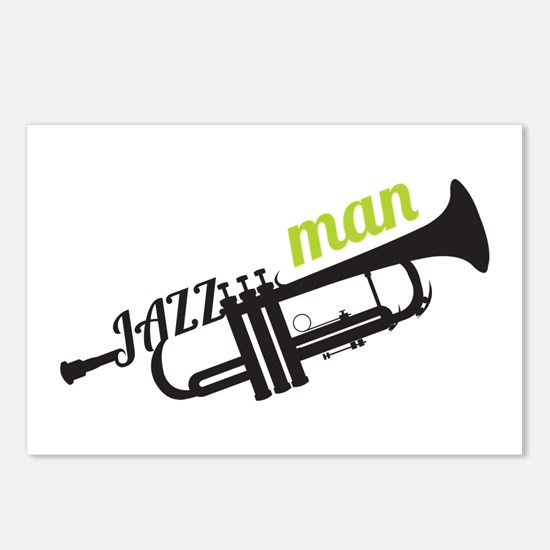Jazz Man Postcards (Package of 8)