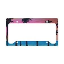 Sunset Beach License Plate Holder