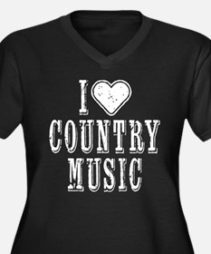 I Love Country Music Plus Size T-Shirt
