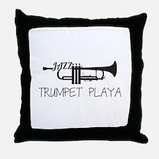 Trumpet Playa Throw Pillow