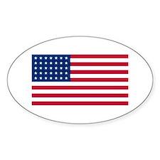 35 Star US Flag Oval Decal