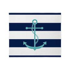 Cute Anchors Throw Blanket