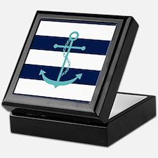 Unique Aqua Keepsake Box