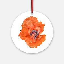 Oriental Poppy 01 Ornament (Round)