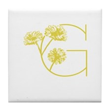 Cute Floral and botanical Tile Coaster