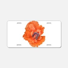 Oriental Poppy 01 Aluminum License Plate