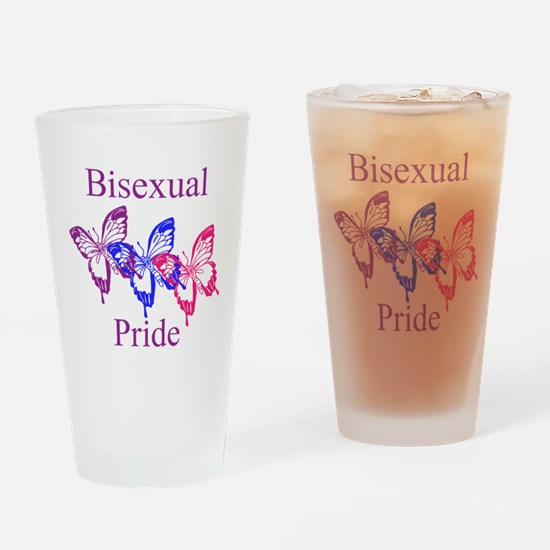 Bisexual Pride Butterfly Drinking Glass