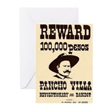 Wanted Pancho Villa Greeting Cards (Pk of 10)