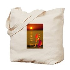 Kokopelli Sunset Tote Bag