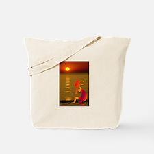 Kokopelli Sunset Tote Bag