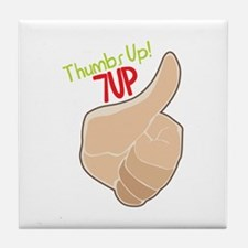 Thumbs Up 7Up Tile Coaster