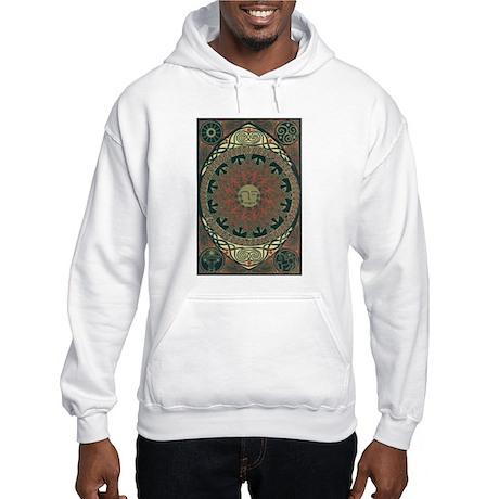 Sun and Moon Symbolism Hooded Sweatshirt
