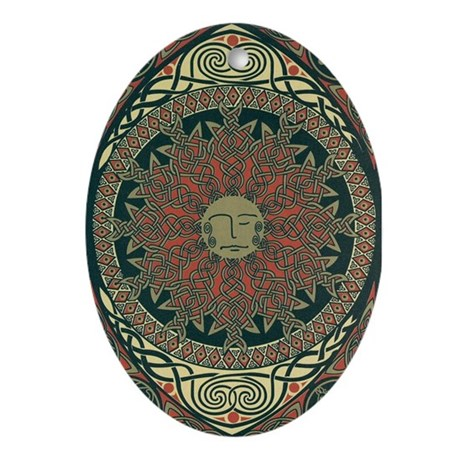 Sun and Moon Symbolism Oval Ornament
