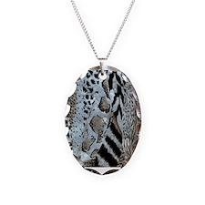 Sarfari Pattern Necklace Oval Charm
