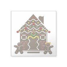 Cute Gingerbread House Christmas Sticker