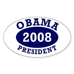 Obama 2008 President Oval Decal