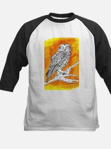 Owl on Orange Baseball Jersey