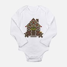 Cute Gingerbread House Body Suit