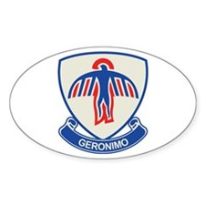 501st Airborne (Geronimo) Oval Decal