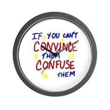 Confuse Them Wall Clock