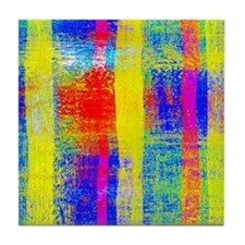 Cute Yellow stripe Tile Coaster